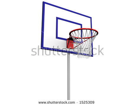 Basketball Hoop Isolated Stock Illustration 170936879.