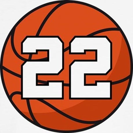 Basketball Player Number 22 Throw Pillow by milestonesbasketball.