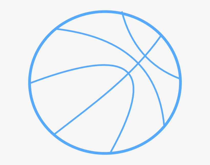 Blue Basketball Outline Clip Art At Clker.