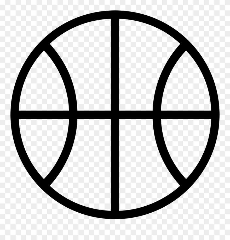 Basketball Ball Outline Comments Clipart (#2733090).