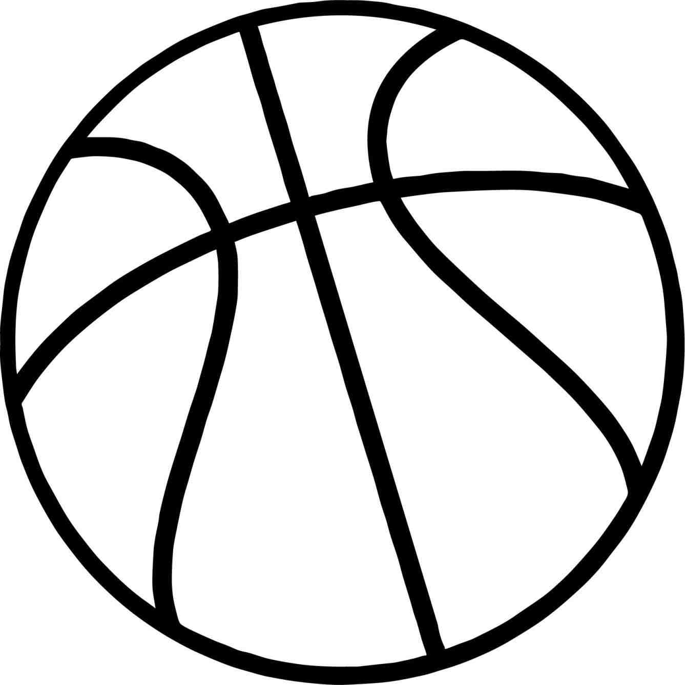 Basketball outline clipart 3 » Clipart Station.