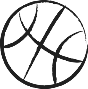 Basketball Outline Clip Art at Clker.com.