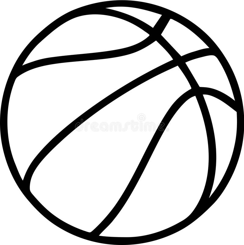 Basketball Outline Stock Illustrations.