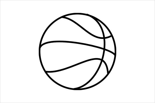 Basketball Outline.