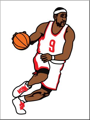 Clip Art: Basketball Player 02 Color I abcteach.com.