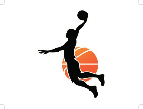 Basketball Players Clipart.