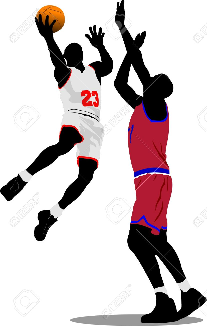 Basketball player dunking clipart 2 » Clipart Station.