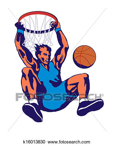 Basketball Player Dunking Clipart.