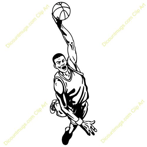 basketball player dunking.