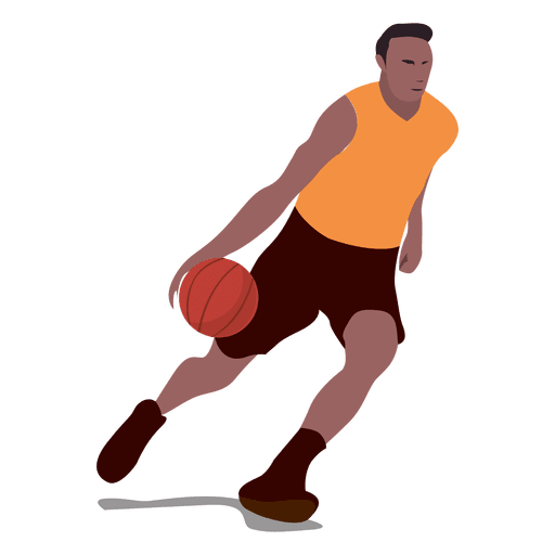 Basketball player cartoon.