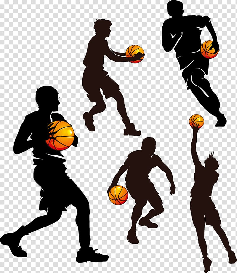 Basketball illustration, Basketball Sport , Basketball Silhouette.