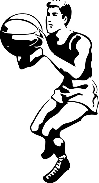 Basketball players clipart 2 » Clipart Station.