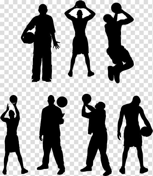 Basketball player Sport Silhouette Athlete, Basketball Players.