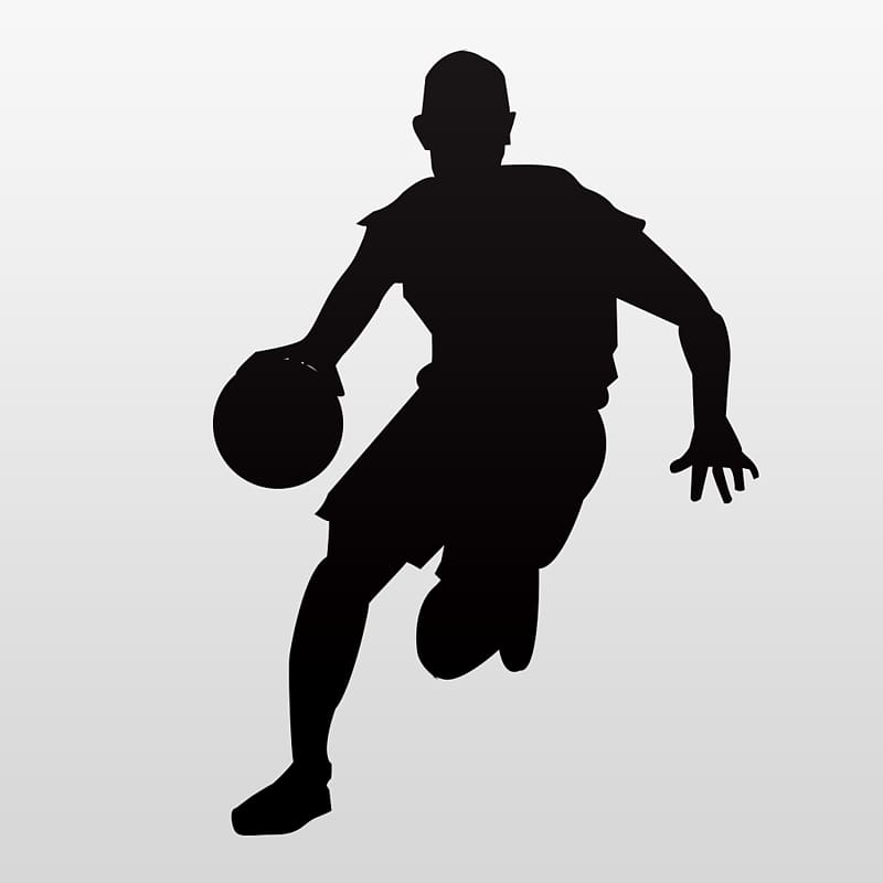 Basketball Sport Silhouette , NBA Players transparent background PNG.