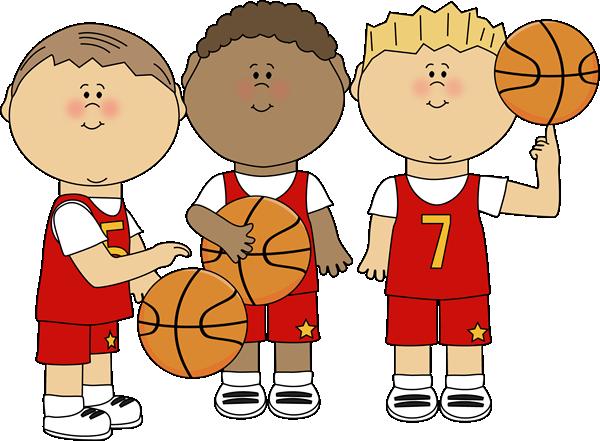 Boy Basketball Players Clip Art.