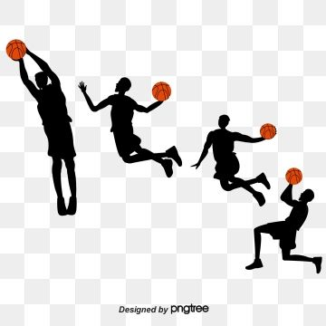 2019 的 Creative Silhouette Of Basketball Players Shooting.