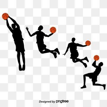 2019 的 Creative Silhouette Of Basketball Players Shooting.