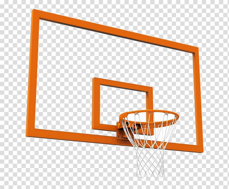 Orange basketball ring and backboard, Basketball Arena.