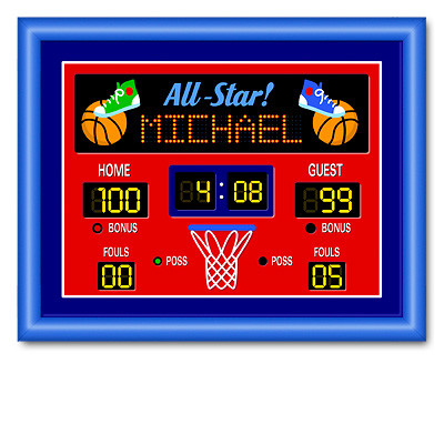 Basketball Scoreboard Clipart.