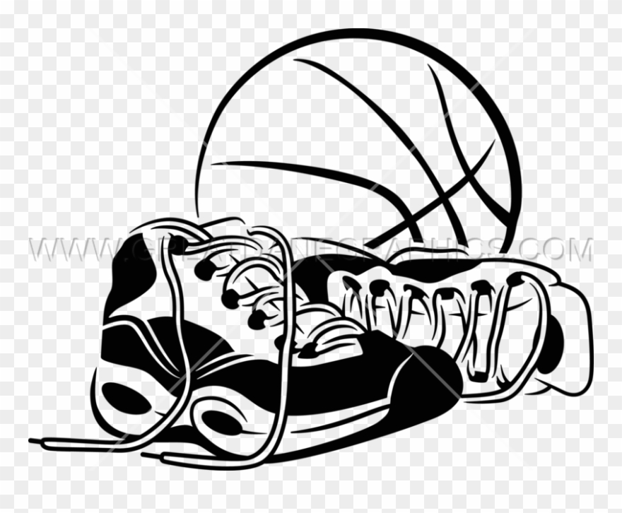 Basketball With Shoes Clipart (#1191523).