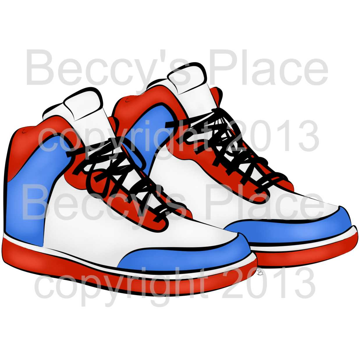 Basketball Shoes Clipart.