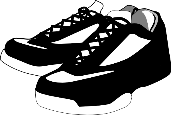 Clip Art Basketball Shoes Clipart.