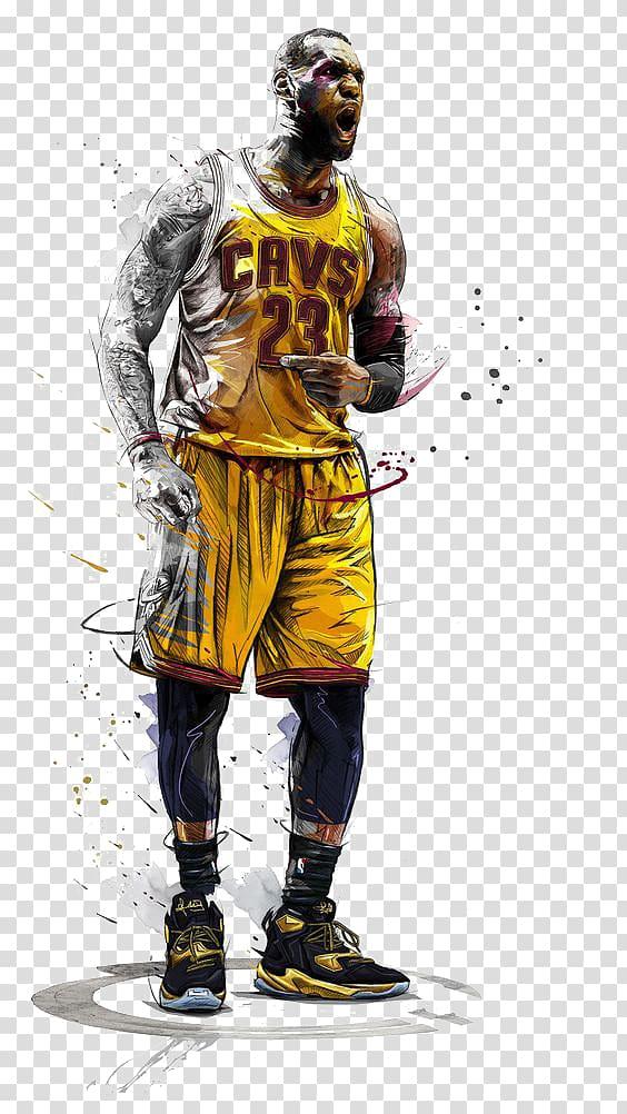LeBron James illustration, NBA All.