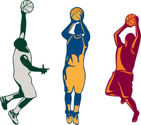 Basketball player shooting clipart 6 » Clipart Station.