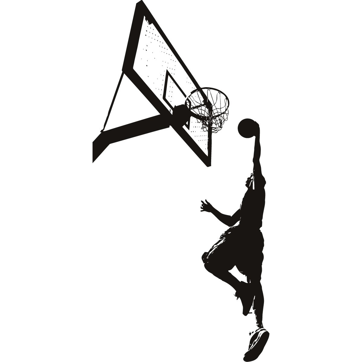 Basketball Slam Dunk Clip Art.