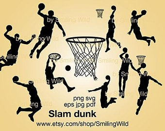 Slam dunk svg.