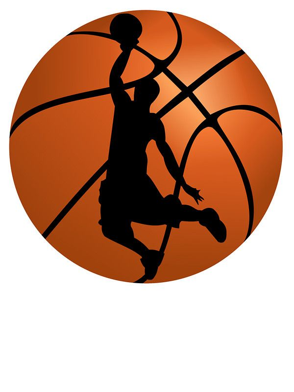 Basketball Dunk Silhouette.