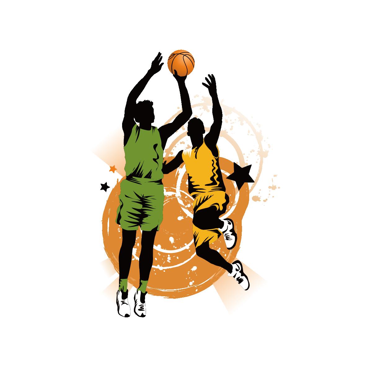 Basketball Slam dunk Clip art.