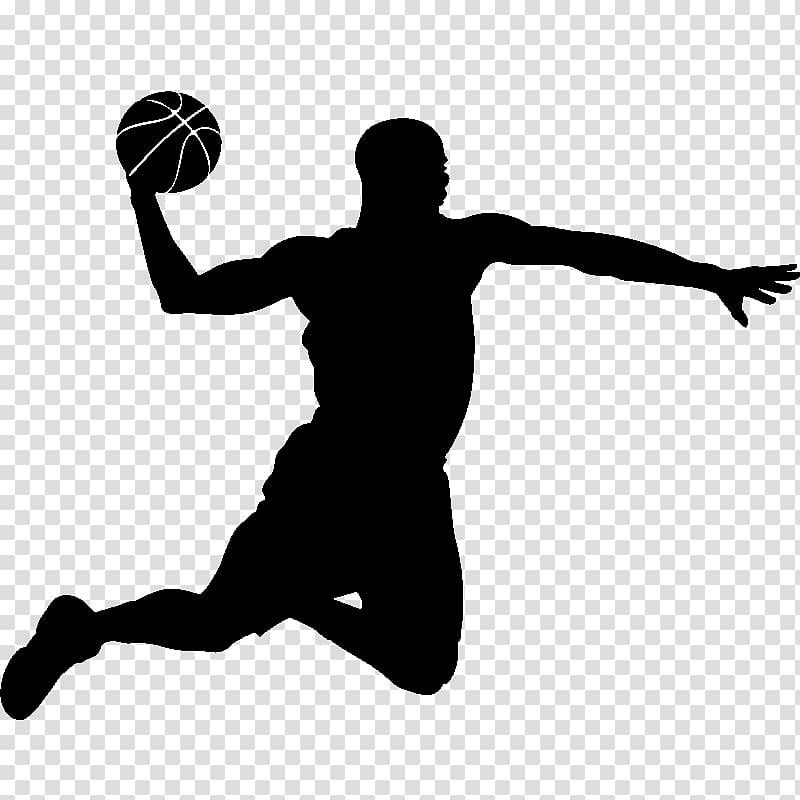 Basketball player Slam dunk Silhouette, basketball.