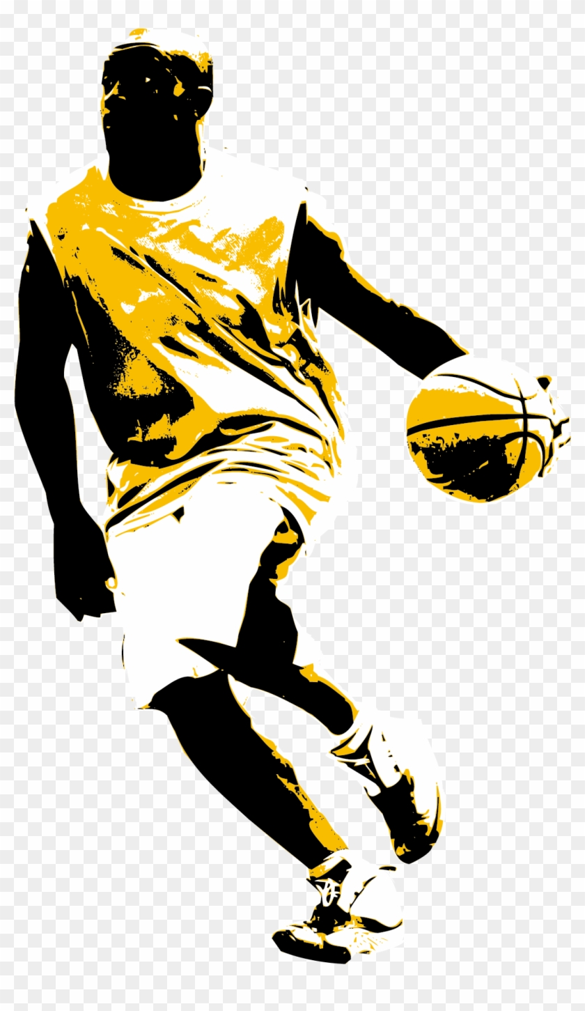 Basketball Slam Dunk Sport Clip Art.