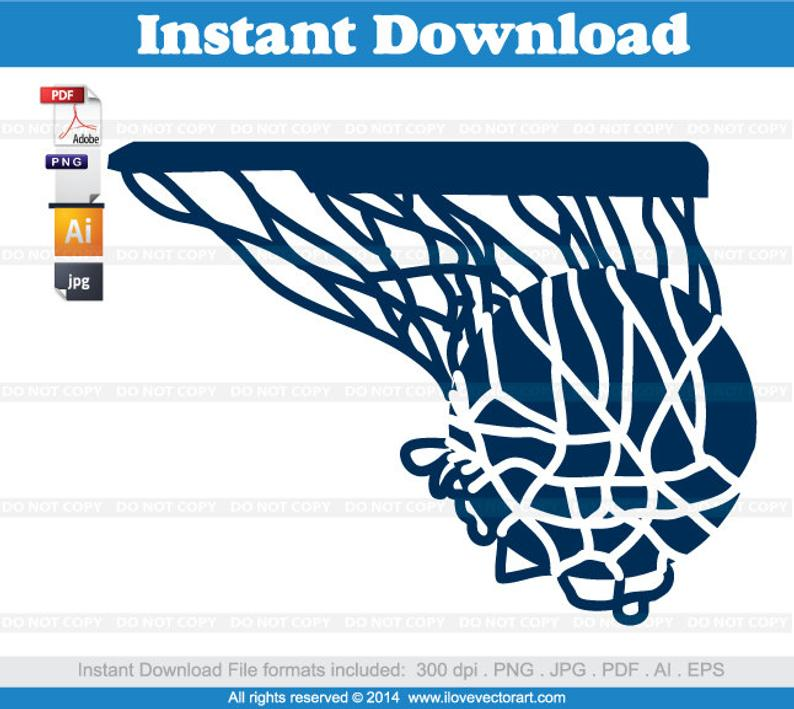 basketball Hoop swish Clipart, Commercial Free Use, vector graphics, images.