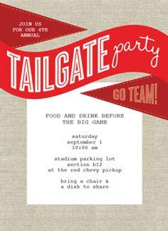 Tailgate Party Invitation.