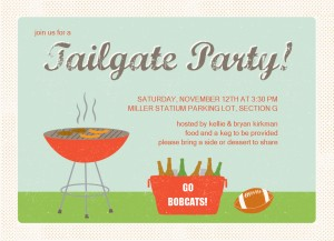 Printable BBQ Tailgate Party Invitation Template.