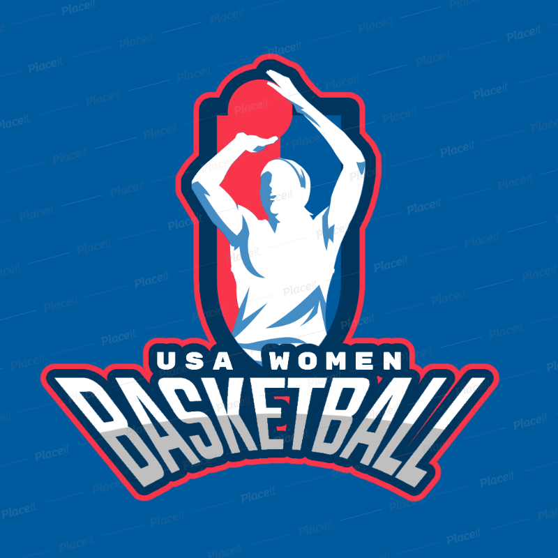 Sports Logo Generator for a Women\'s Basketball League 336i.