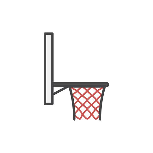 Simple basketball hoop icon vector.