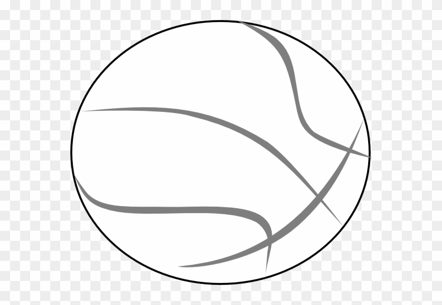 Basketball Grey Outline.
