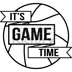 its game time basketball vector art clipart. Royalty.