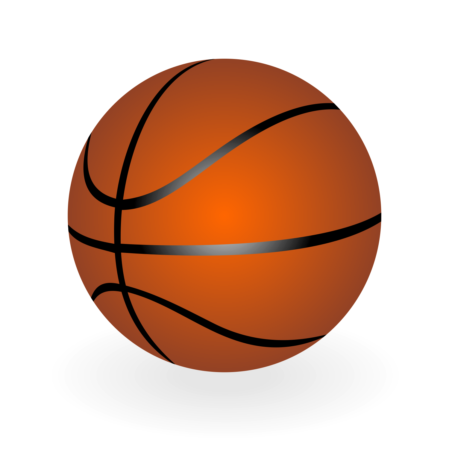 Vector for free use: Basketball vector.