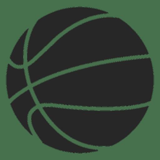 Basketball ball icon silhouette.