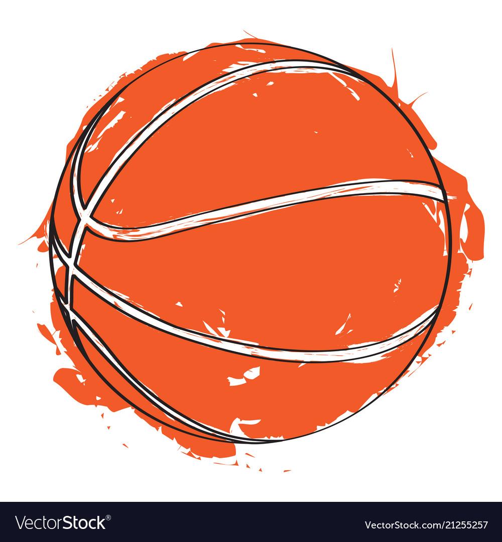 Sketch of a basketball ball.