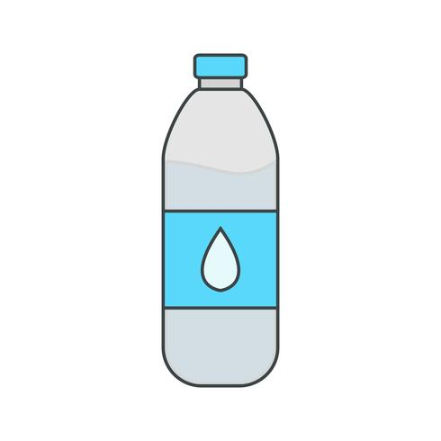 Vector Water Bottle Icon.