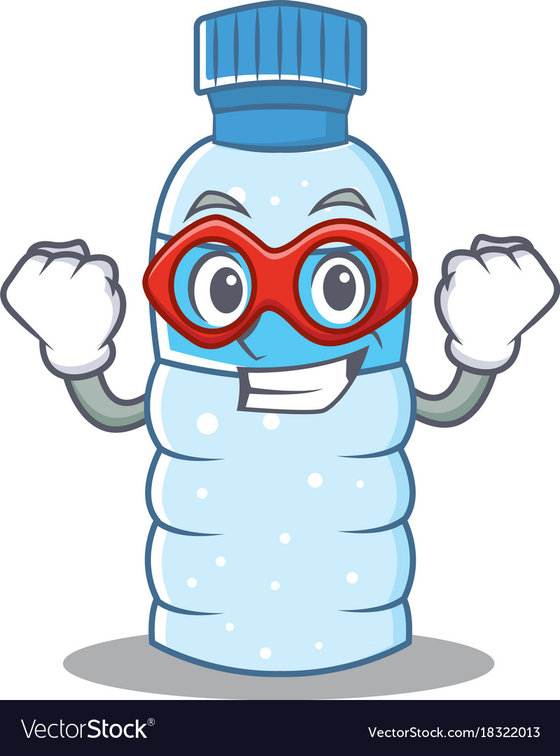 Super hero bottle character cartoon style.