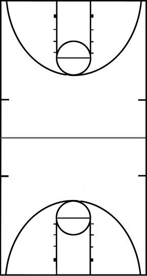 10 basketball court clip art..