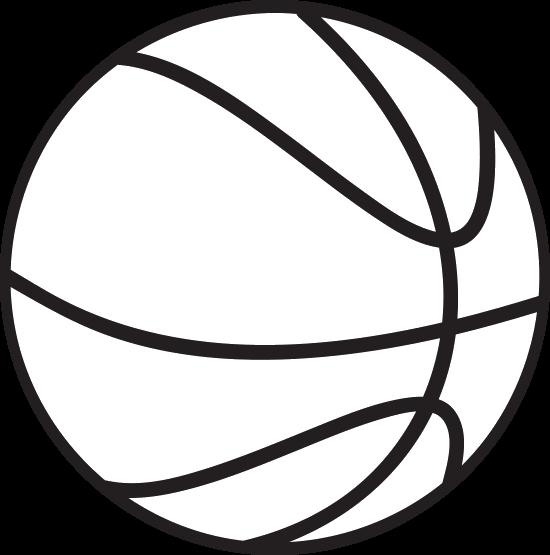 Basketball Black White Backboard Clip art.