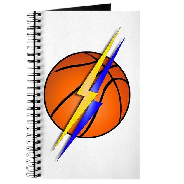 Basketball Lightning Bolt Team Colors Journal by Gravityx9.
