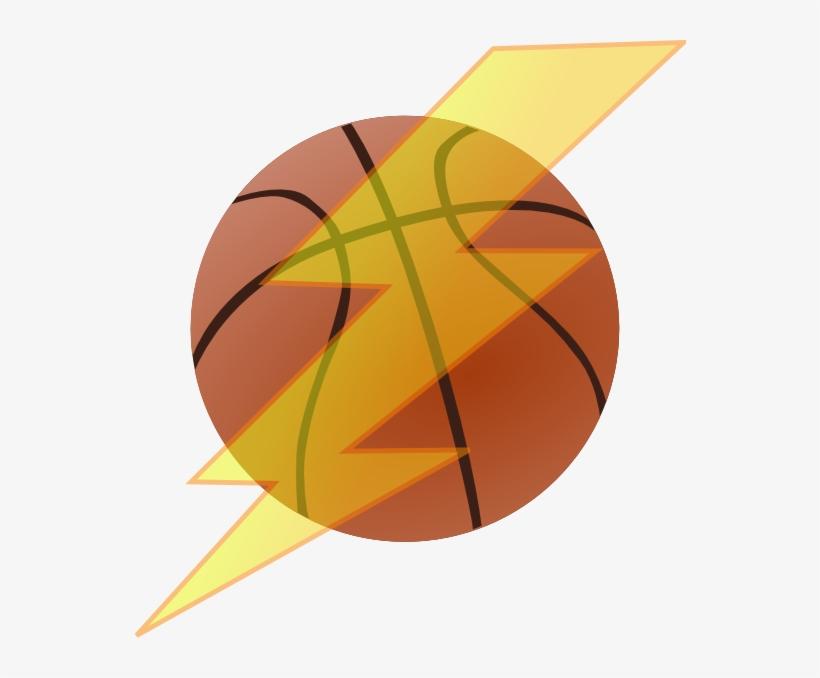 Basketball With Lightning Bolt Clip Art At Clker.